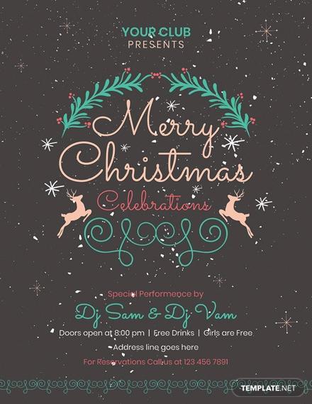 free christmas chalkboard