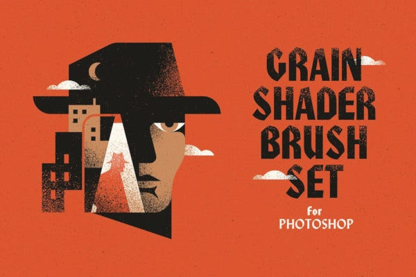 grain shader photoshop brush
