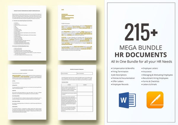 hr documents templates package in word ipages