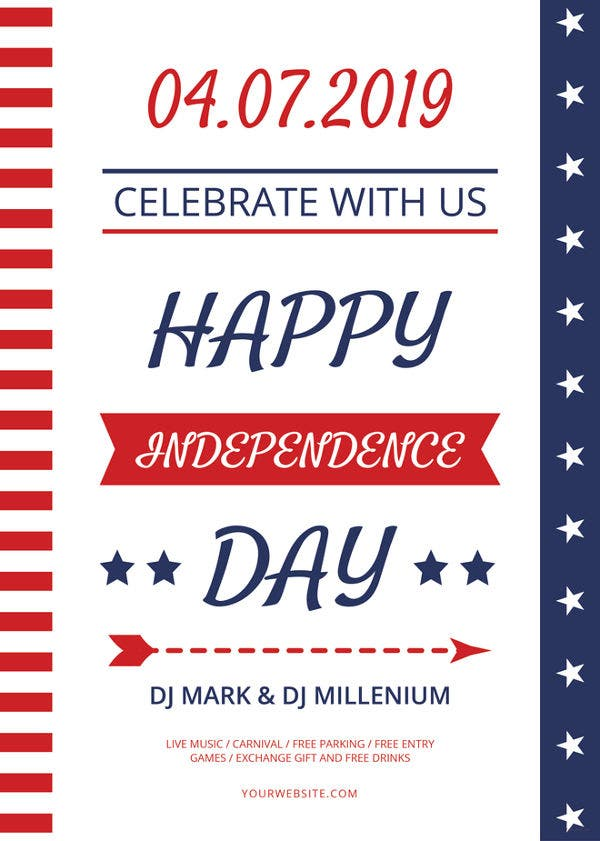 happy independence day flyer template1