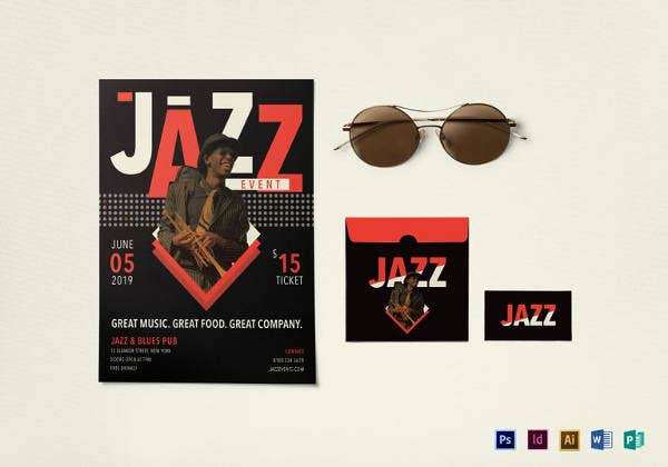 jazz event flyer template