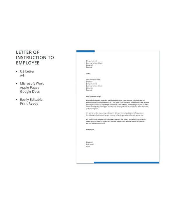 13 Sample Letter Of Instruction Templates PDF DOC