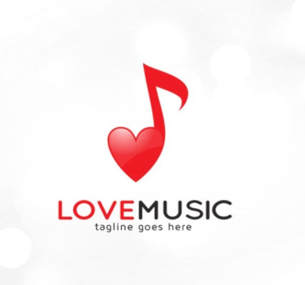 love music logo template