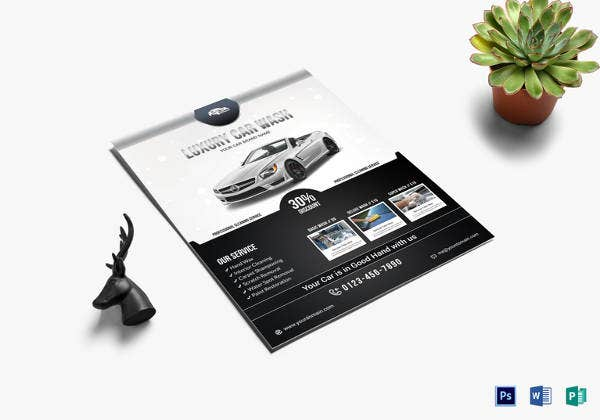luxury car wash flyer template