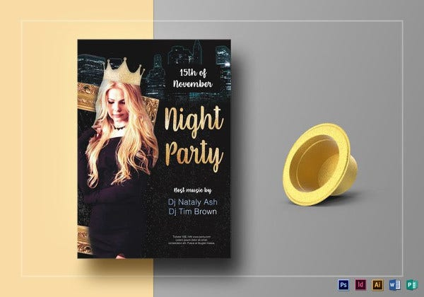 luxury party flyer template1
