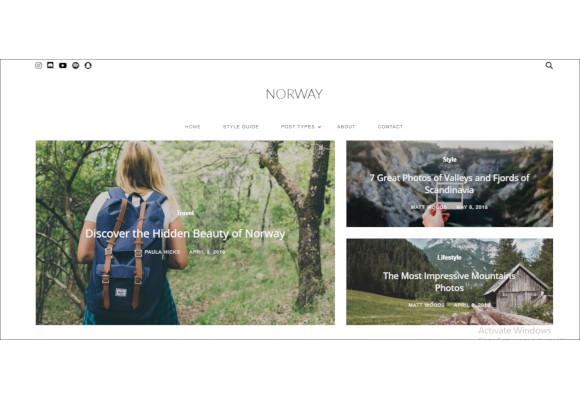 magazine travel wordpress theme