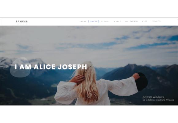 minimal personal portfolio template