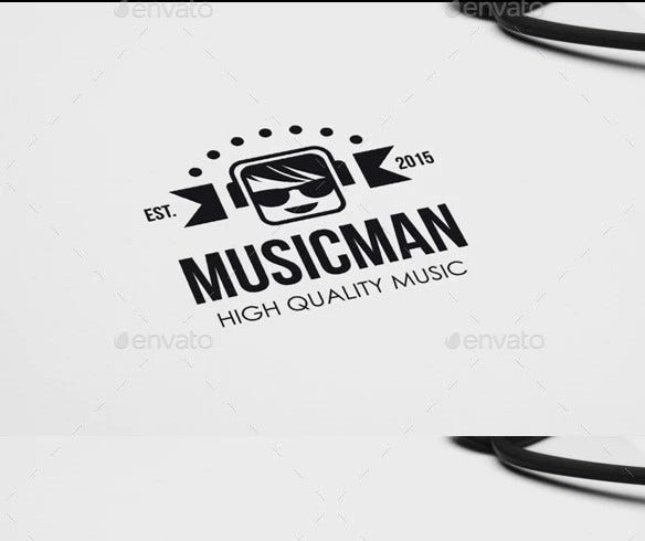 music logo badges labels