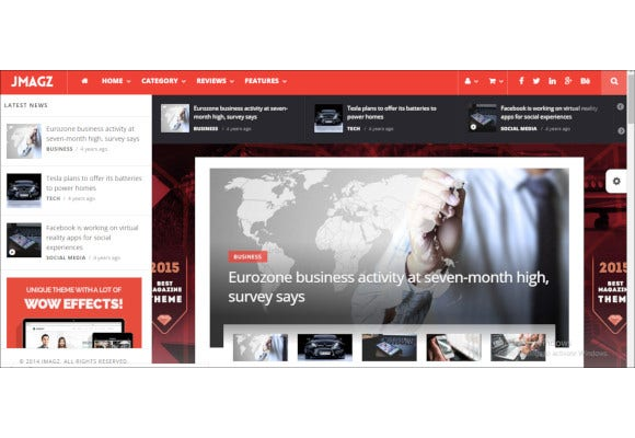 news technology wordpress theme