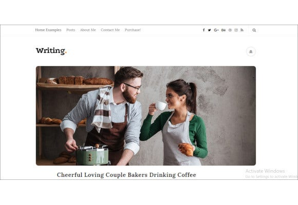 personal blog website theme