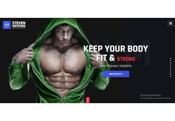 personal gym trainer nutrition coach wordpress theme