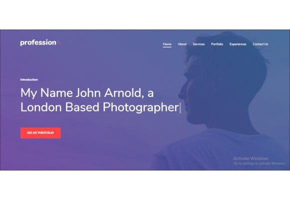 personal profession website template
