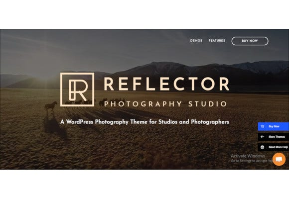 photography reflector wordpress theme
