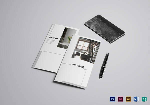 printable luxurious apartment brochure template