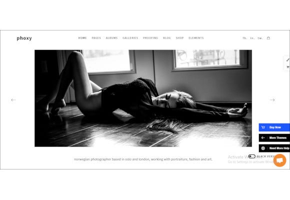 professional photographer wordpress website theme