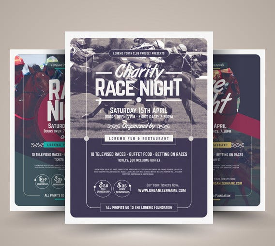 race night flyer template