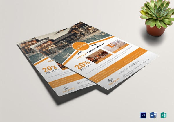 real estate flyer template in psd