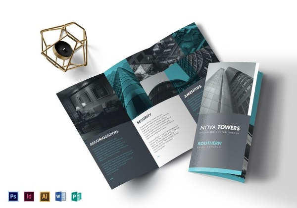 apartment brochure design. Real Estate Tri-fold Brochure Template Apartment Design E