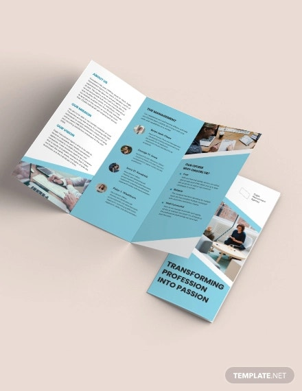 recruitment agency tri fold brochure template1