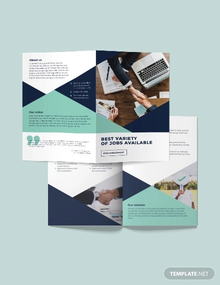 recruitment bi fold brochure template