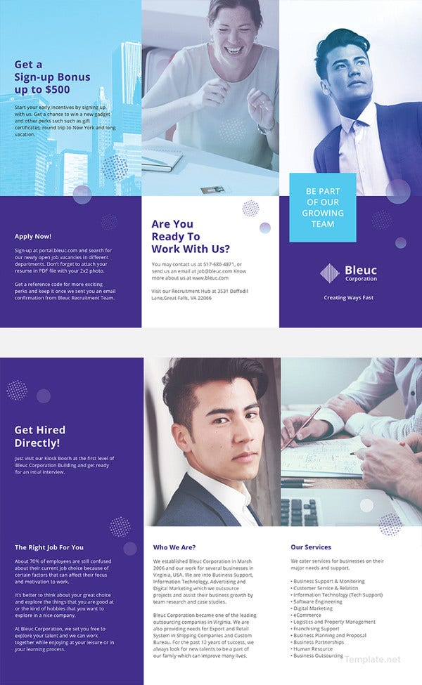 recruitment brochure template