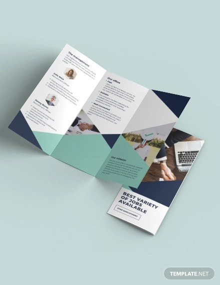 recruitment tri fold brochure template