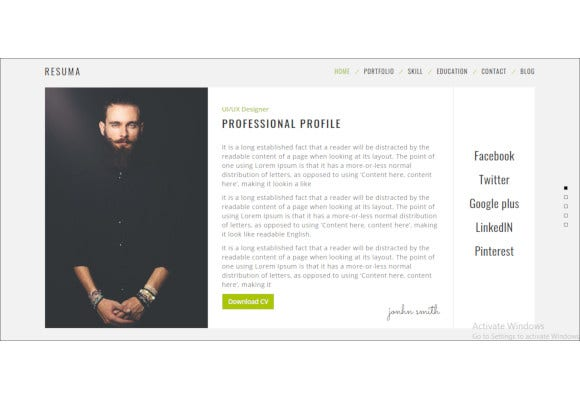 resume-portfolio-responsive-wordpress-theme