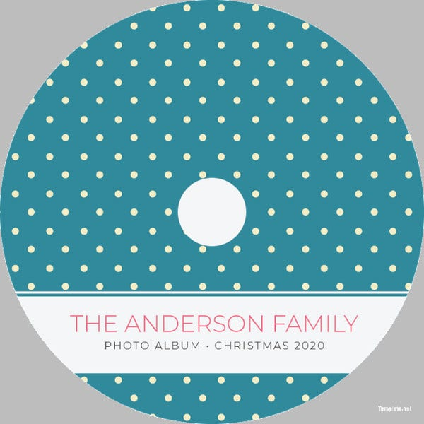 sample dvd label template