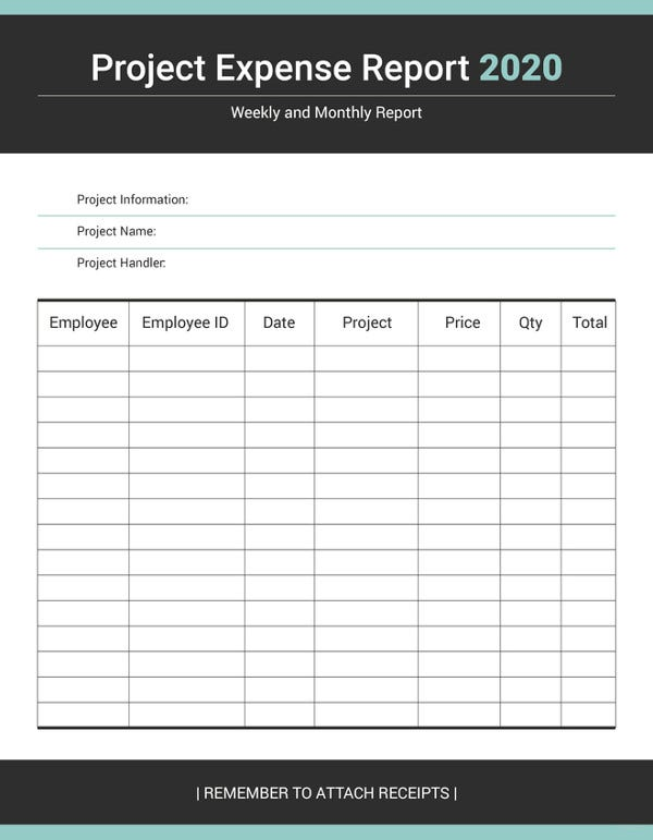 sample-project-expense-report-template