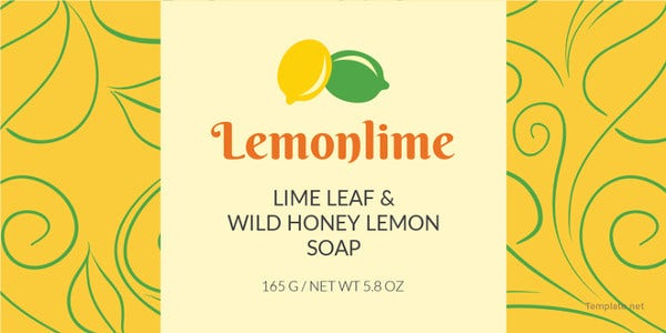 soap label template1