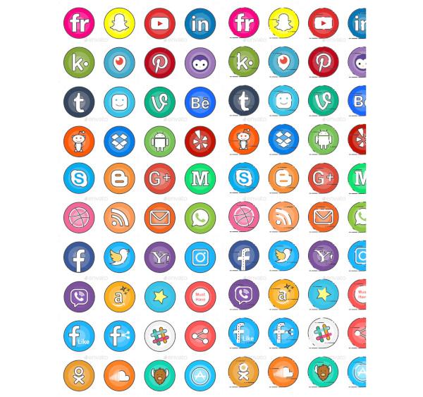 social media buttons1