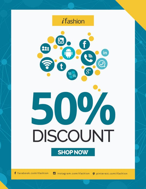 social media discount flyer template