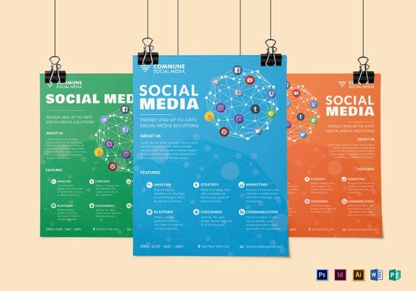 social media flyer template in psd