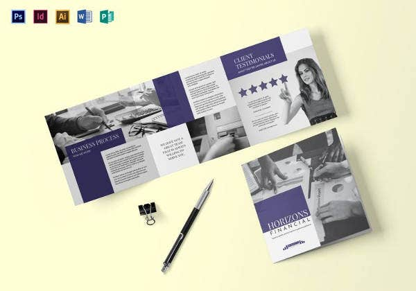 square brochure template in indesign