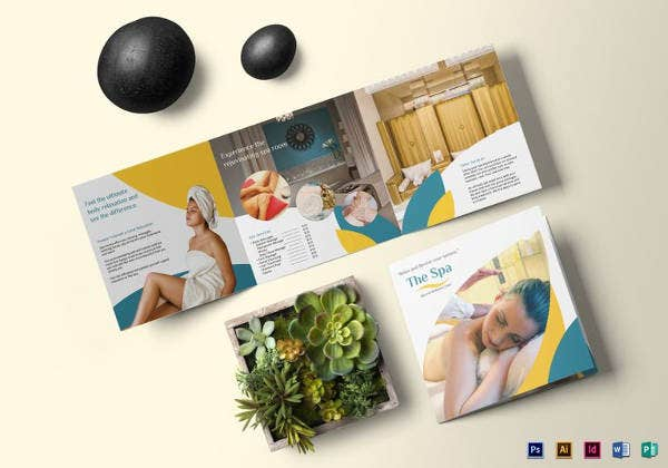 square spa brochure template to edit