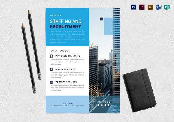 staffing and recruitment flyer template