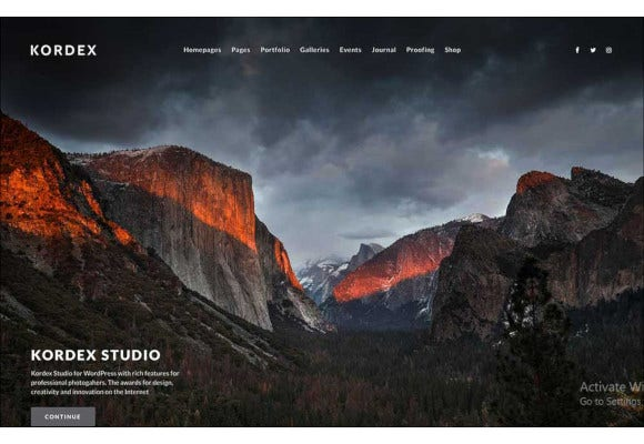studio photography wordpress theme