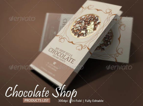 swiss chocolate brochure template