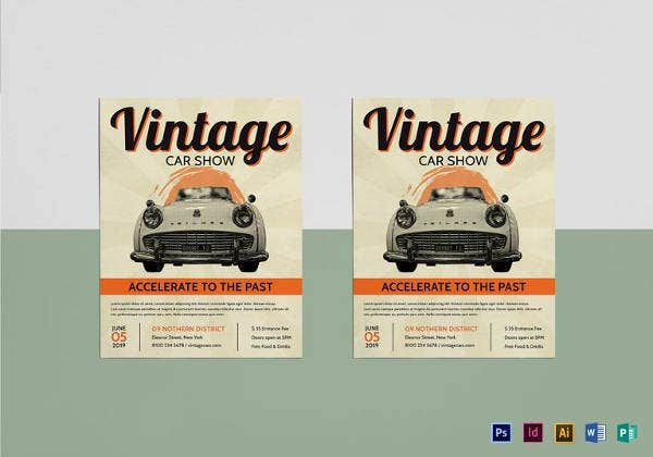 21 car show flyer templates psd in design ai free premium