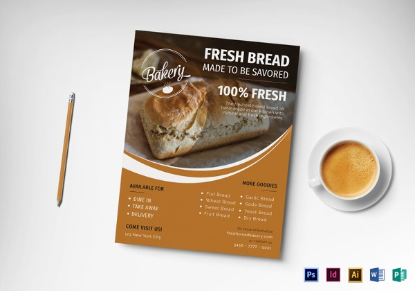 Bakery Flyer Templates Free PSD AI EPS Format Download - Bakery brochure template free