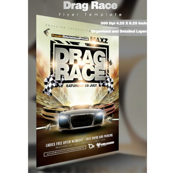 drag racing flyer template