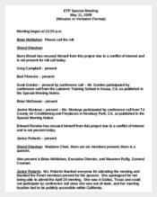 Verbatim Minutes