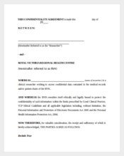 Personal Confidentiality Agreement Template
