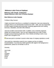 Job Reference Letter from Employer Template