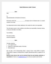 Bank Reference Letter Format Template