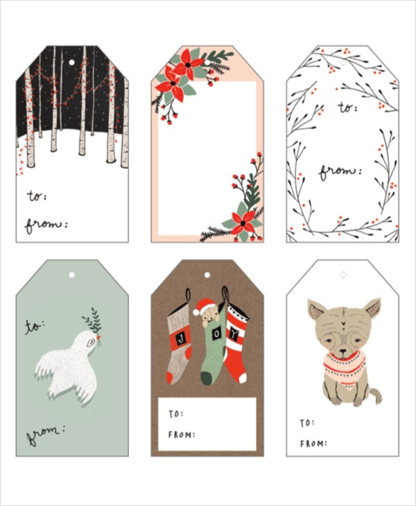 gift card tag template