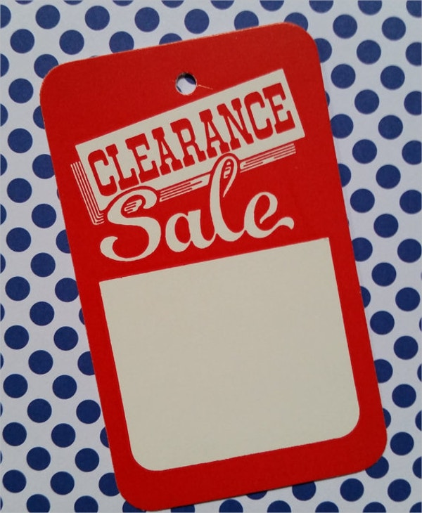 price tag template