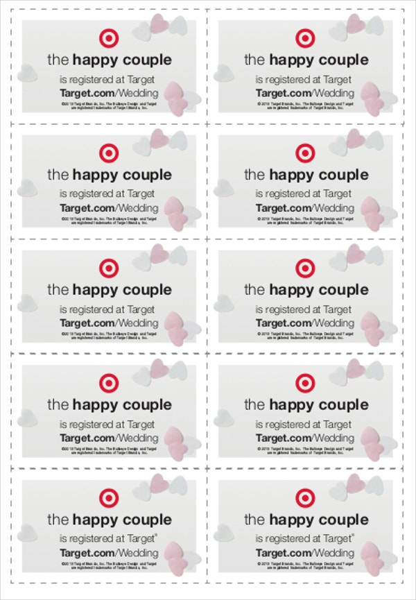wedding tag template