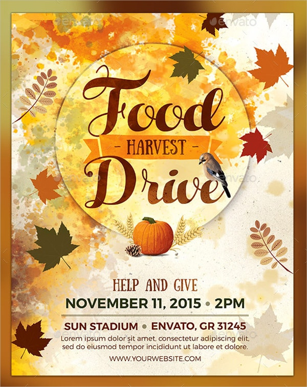 Food Harvest Drive Flyer