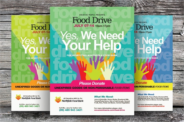 food drive advertisement flyer